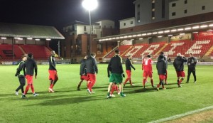 Orient Players warm up